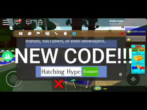 New Hatching Hype Code - Roblox - Build a Boat for Treasure