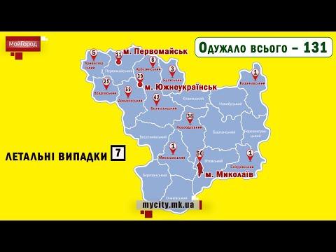 Moy gorod: Мой город Н: Николаевская область. Статистика COVID-19 на 26.05.2020