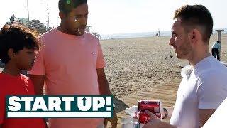 Frecher Verkäufer: Daniel verlangt 30€ für Wasser | Start Up! | SAT.1 TV