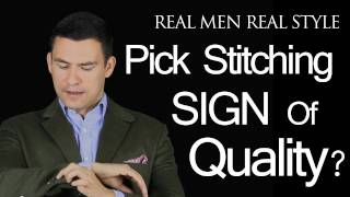 Pick Stitching - A Sign Of Quality Men