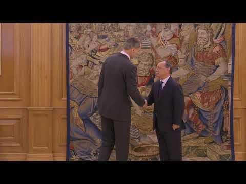 El rey recibe en audiencia al presidente de la ciudad autónoma de Ceuta, Juan Jesús Vivas