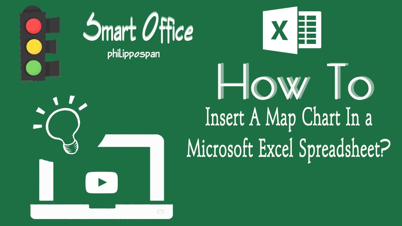 How to create  map chart in excel also youtube rh