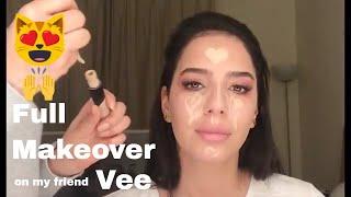 Huda Beauty Eyeshadow Rose gold Palette   Full Makeup Review   Shirin Van Dort