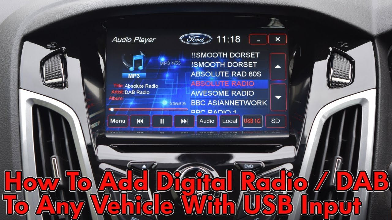 how to add digital radio to any vehicle with usb input. Black Bedroom Furniture Sets. Home Design Ideas