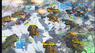 Halo wars massive Battle: UNSC vs Covenant