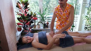 Pleasant Belly Massage. Massage For Weight Loss (Abdominal Massage Techniques)