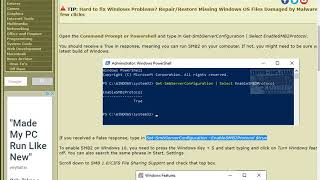 Your System Requires SMB2 or Higher Error on Windows 10
