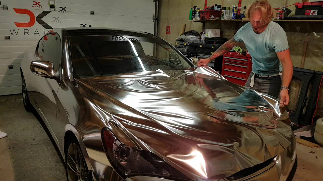 Professional Level How To Vinyl Wrap Hood Bonnet Genesis