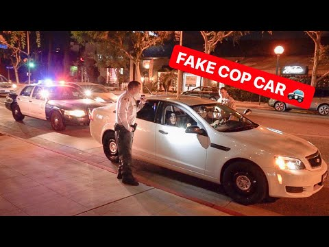 WHEN COPS PULL OVER COPS! *ALEX CHOI FAKE POLICE CAR*