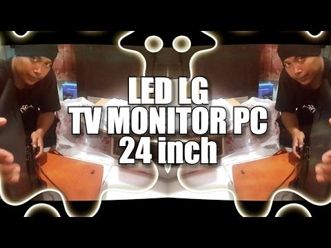 LED TV monitor LG 24MT48AF Unboxing