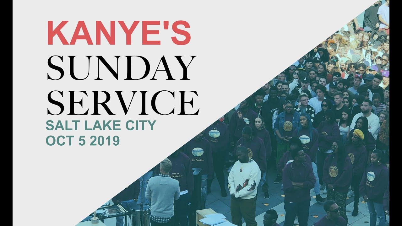 Kanye's Sunday Service got crazy! (Salt Lake City live footage Oct 5 2019)