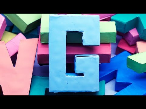 How to Make 3D Alphabet Letters with Paper | Alphabet Letter DIY | 5 Minutes Crafts & Toys