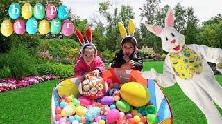 Surprise Toys Egg Hunt with Sam and Abby