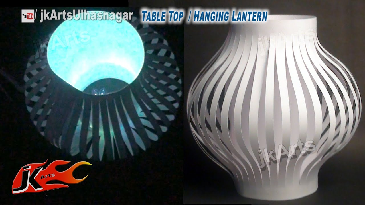 Diy paper lantern aakash kandil decoration table top - How to make chinese lantern ...