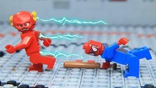 Lego Superheroes Champion Spider Man vs Flash Episode 04