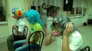 Очень смешной и ржачный конкурс на свадьбе и юбилей с переодеванием – Мордамаски. Видео №6 из 23.
