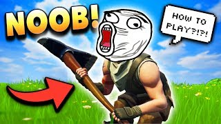 The ONLY Way a NOOB Can Win in Fortnite Battle Royale!