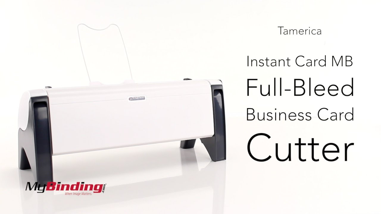 Tamerica Instant Card MB Full Bleed Business Card Cutter - YouTube