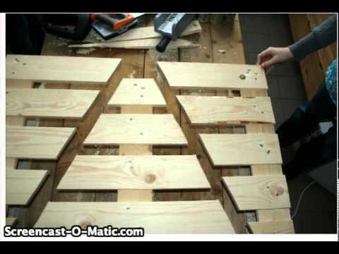 Un sapin palette pour no l youtube - Sapin de noel original en bois ...