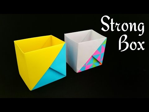 Easy origami box with a4 paper