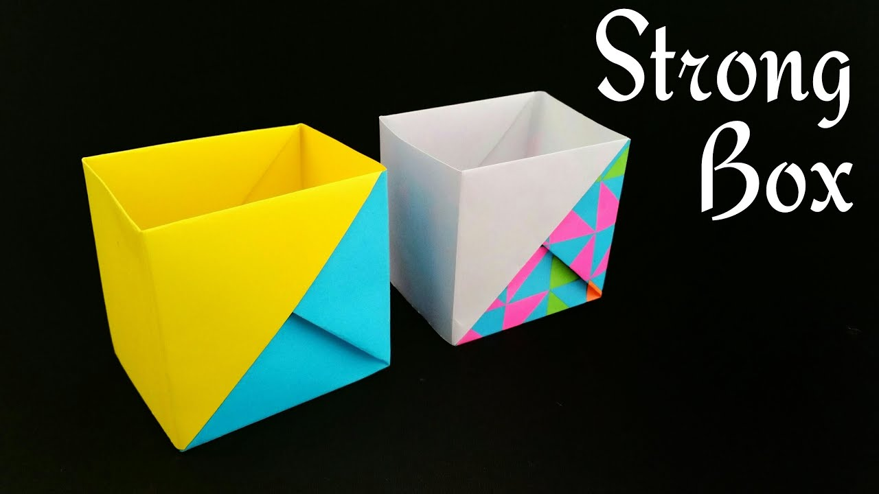 Box Falten Din A4 Strong Dual Tone Box From A4 Paper Useful Origami Tutorial By Paper Folds