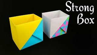 Strong Dual Tone Box from A4 paper - Useful Origami Tutorial by Paper Folds ❤️