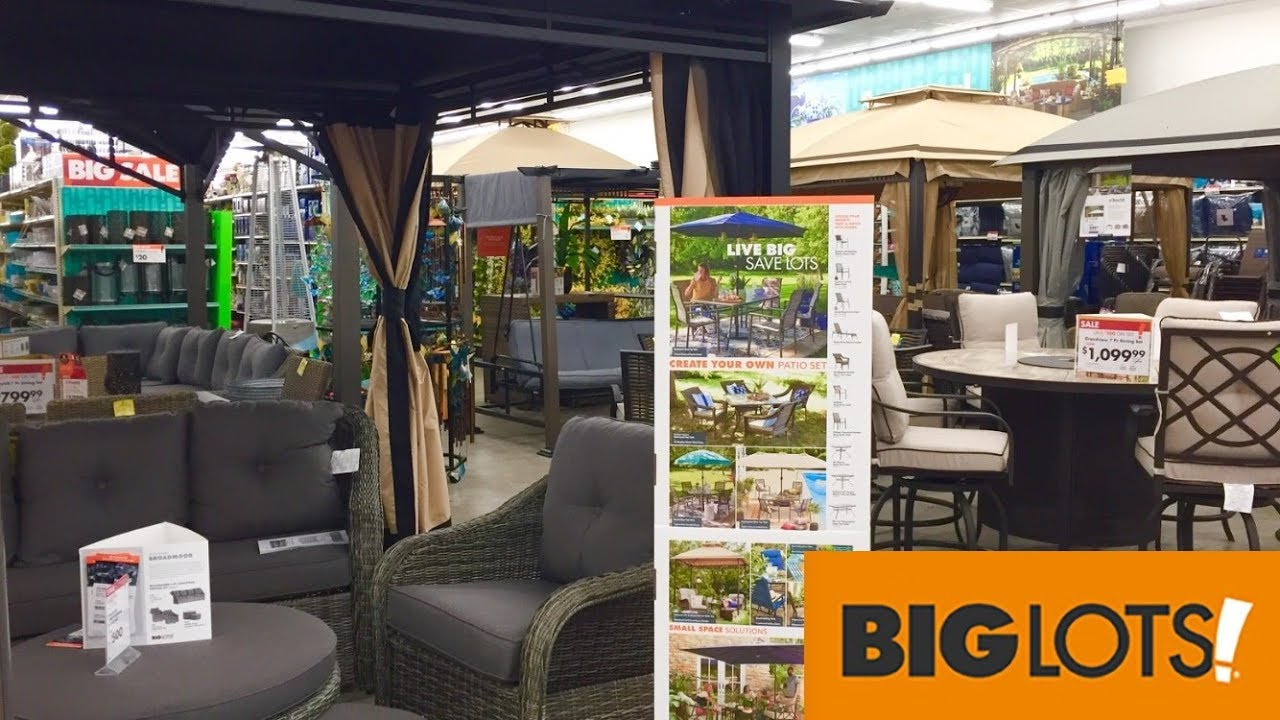 big lots patio furniture chairs sofas couches home decor shop with me shopping store walk through 4k