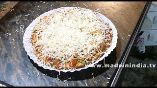 Make Veg Pizza in Microwave Convection Oven Recipe | Popular Street Recipes