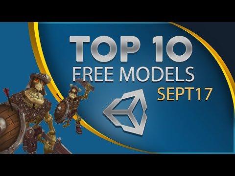 Top 10 Free Unity Assets - Models - September 2017
