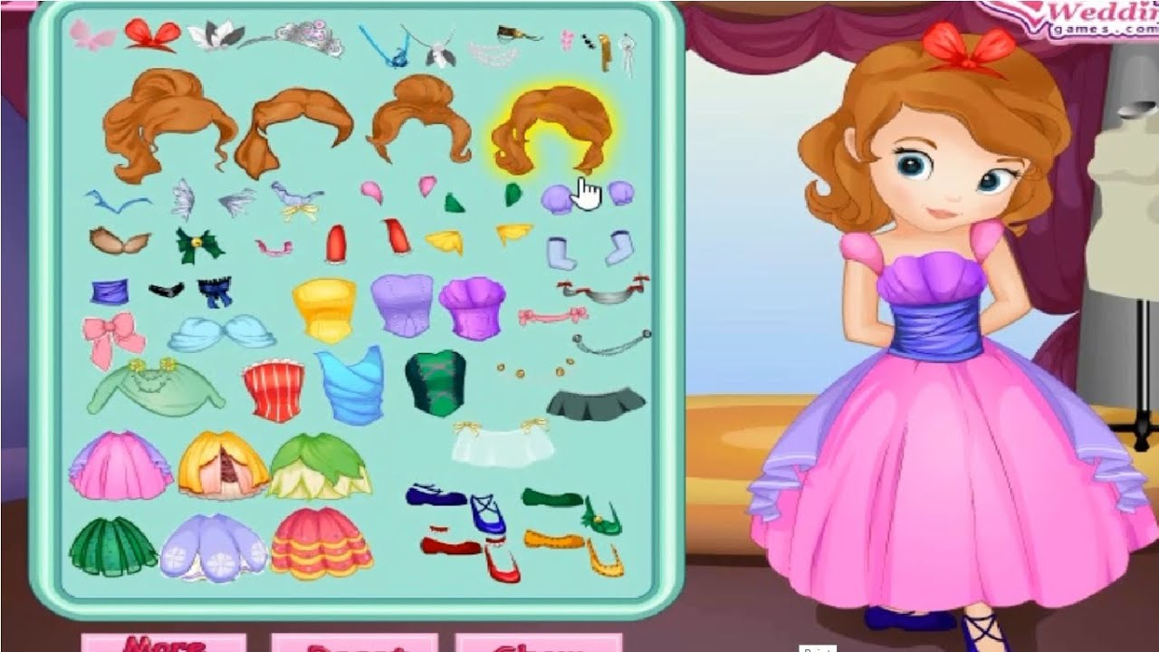 Sofia The First Games Sofia The First Dress Up Games Sofia The First Games For Girls Children Youtube