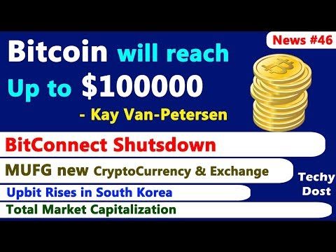 Bitcoin will reach Up to $100000, BitConnect Shutsdown, MUFG new Crypto, Upbit Rises, Market Cap