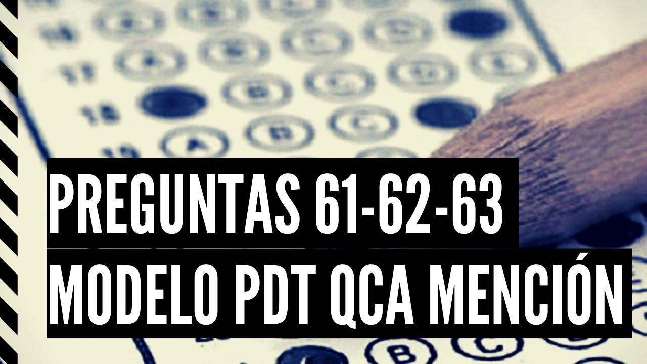 PREGUNTAS 61 - 62 - 63 MODELO CIENCIAS PDT 2021