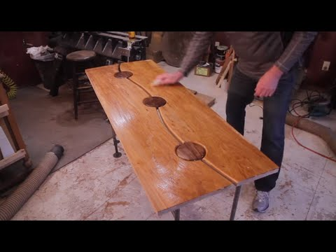 Maple and Walnut Entry Table Woodworking Projects