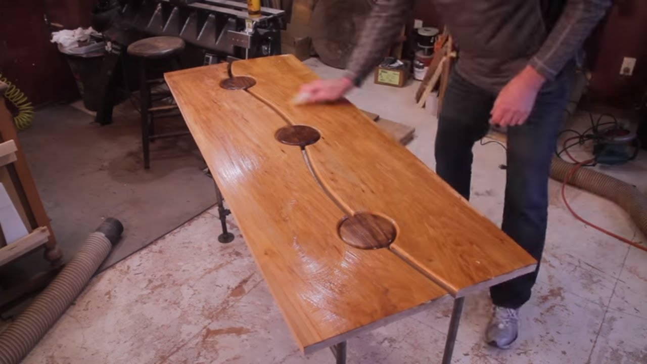 Maple And Walnut Table Entry Table Woodworking Projects Youtube