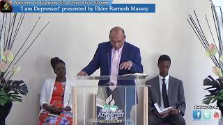 "Elder Ramesh Massey Presents, Sermon Entitled ""I Am Depressed"""