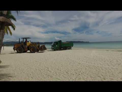 Boracay Closure Update Day 31.(Transformer duty on the beach)