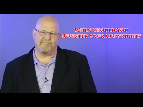 When Should You Register Your Copyrights - Entertainment Law Asked & Answered Mp3