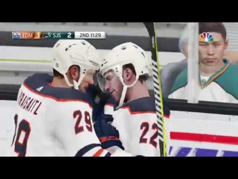 NHL 19 - Edmonton Oilers Vs San Jose Sharks Gameplay - NHL Season Match Nov 20, 2018