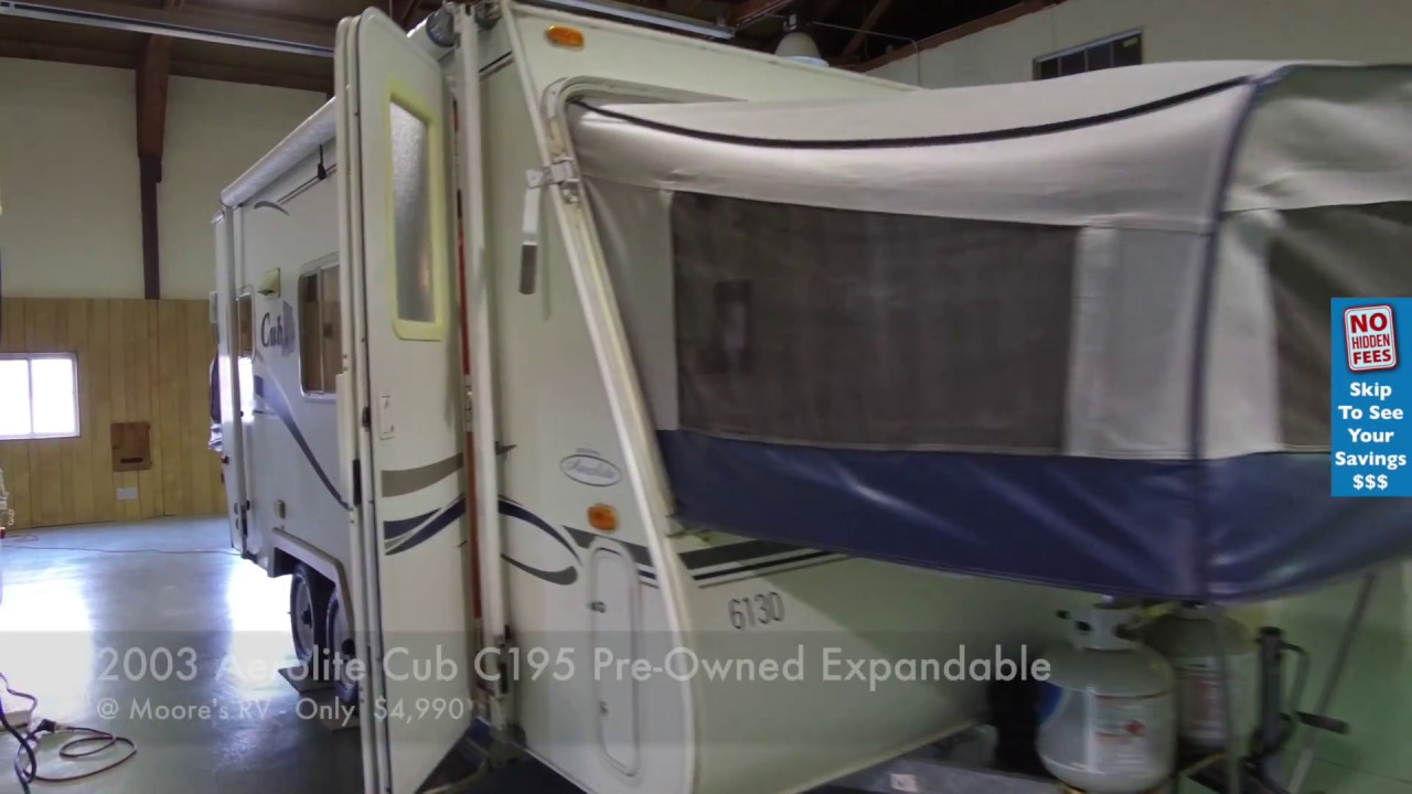 2003 Aerolite Cub C195 Pre Owned Expandable Travel Trailer Video