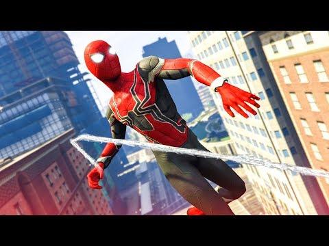 EPIC SPIDER-MAN MOD! - (GTA 5 Avengers: Infinity War Mods)