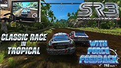 Sega Rally 3   Classic Race in Tropical with FFB Wheel live cam (TeknoParrot 1.64)