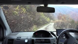 白川郷から牛首峠(牛首林道)をこえて利賀方面へ  車載動画