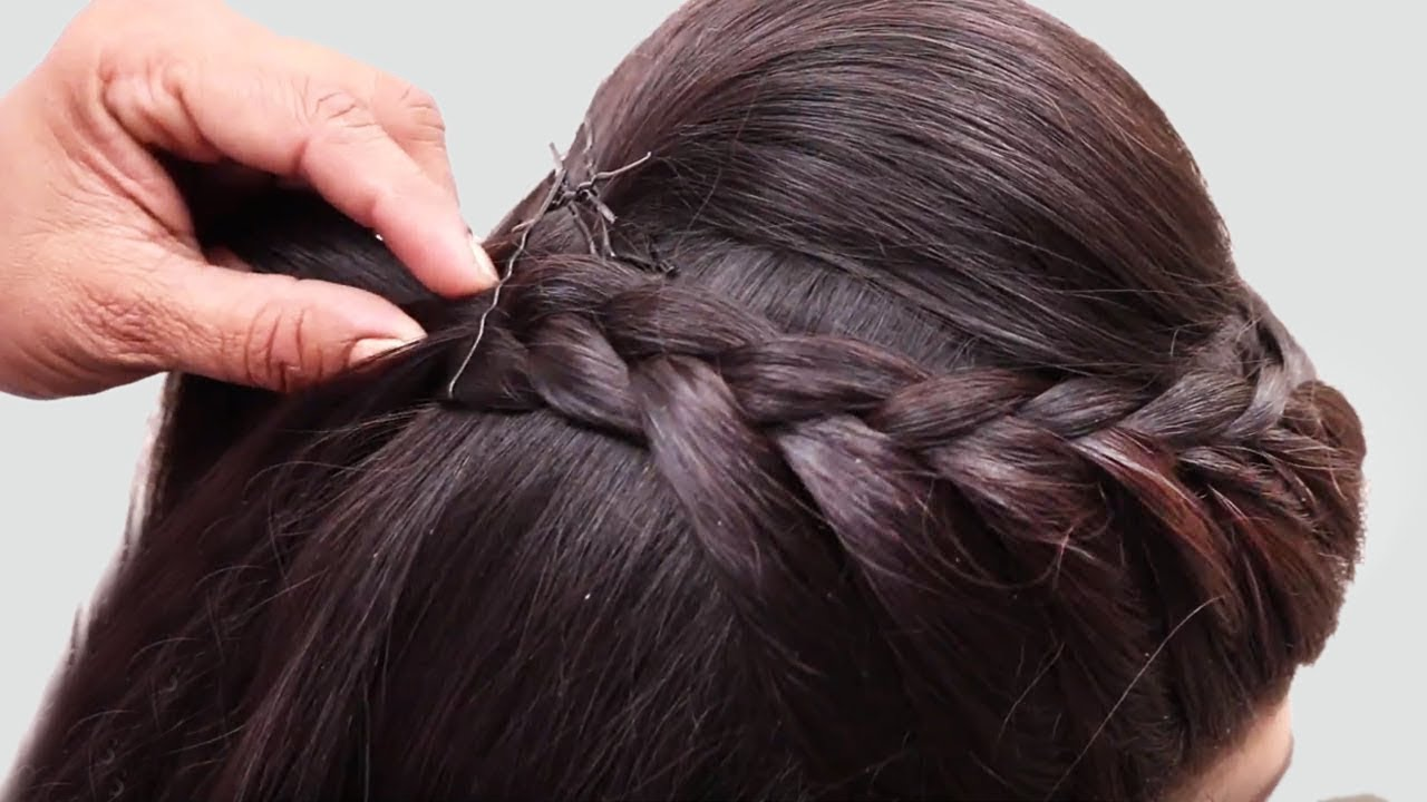 beautiful hairstyle wedding party function