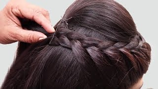 Beautiful Hairstyle for Wedding/party/Function | Hair Style Girl | Braided Bun Hairstyles for Party