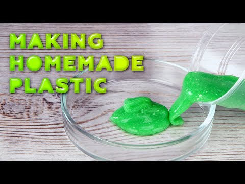 """How To Turn Liquid Glass And Food Additives Into """"plastic"""""""