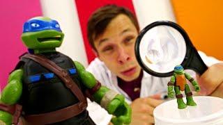 Черепашки Ниндзя: Леонардо стал черепахой. Видео для детей
