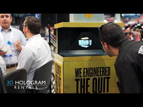 3D Hologram Rentals Display - Las Vegas Convention Center Trade Show Booth Exhibit Hall HIghlights