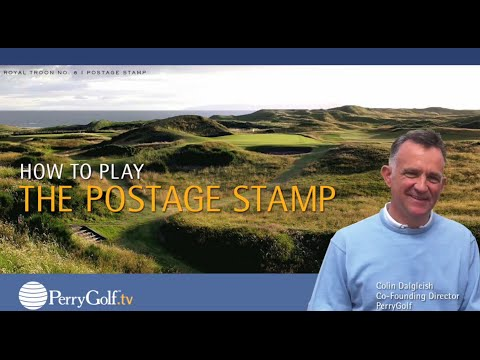 The Postage Stamp at Royal Troon, Scotland with PerryGolf Co-Founding Director, Colin Dalgleish