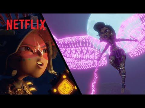 La batalla de Maya y la Diosa Acat en Isla Luna | Maya y los Tres