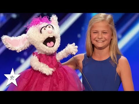 12 Year Old Ventriloquist Darci Lynne Wins GOLDEN BUZZER On America's Got Talent 2017!